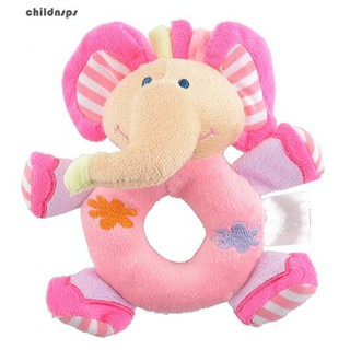 Baby Infant Kids Gifts Cute Soft Pink Elephant Plush Rattle Educational Toys