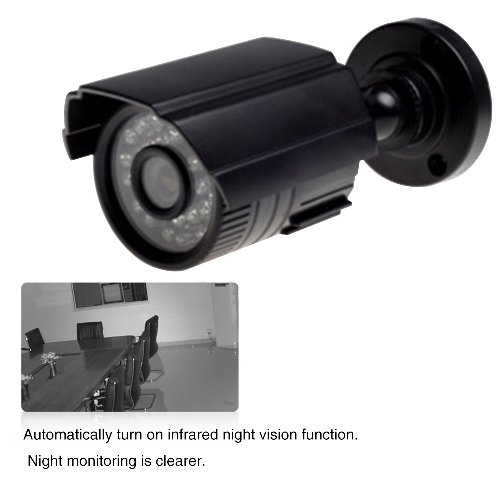 Surveillance 720P Night Vision Video Home Easy Install IR Cut Wired Camera