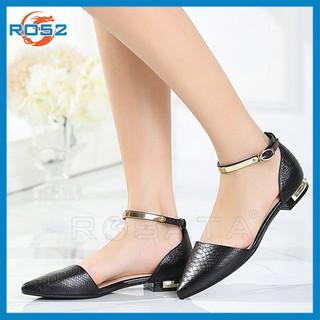 Giày búp bê nữ đẹp Rosata bệt quai vàng RO52 thumbnail