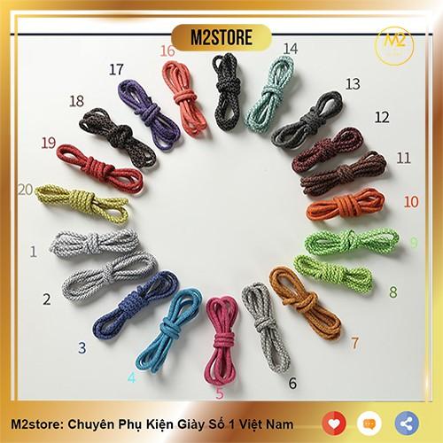 Dây giày cao cấp mẫu bản tròn phản quang siêu bền XIMO [Đủ màu 120cm]