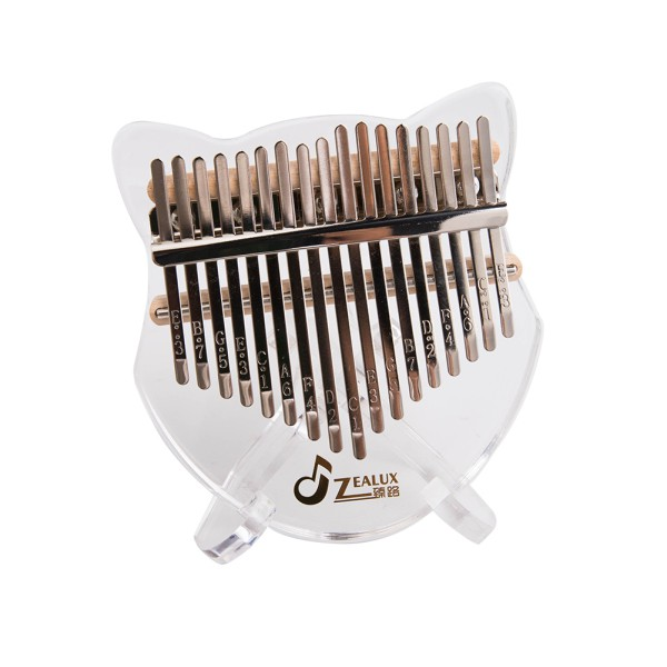 17-key Acrylic Kalimba Thumb Piano Transparent Crystal Thumb Piano with Tuning Hammer