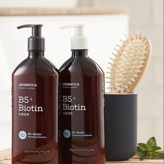 Dầu gội dưỡng tóc và kích thíc mọc tóc Aromatica B5 + Biotin Fortifying Shampoo 400ml thumbnail