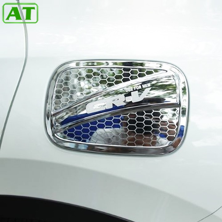 Ốp nắp bình xăng nhựa ABS mạ crom Honda - CRV 2017-2020 Loại 7 chỗ