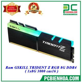 SIÊU KHUYẾN MÃI ) Bộ nhớ GSkill TRIDENT Z RGB-8GB DDR4 3000GHz thumbnail