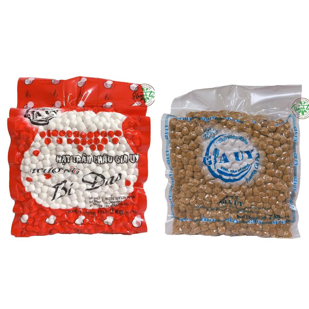 Trân Châu Gia Uy (Cafe, Mini Cafe, Bí Đao Trắng) Gói 2kg