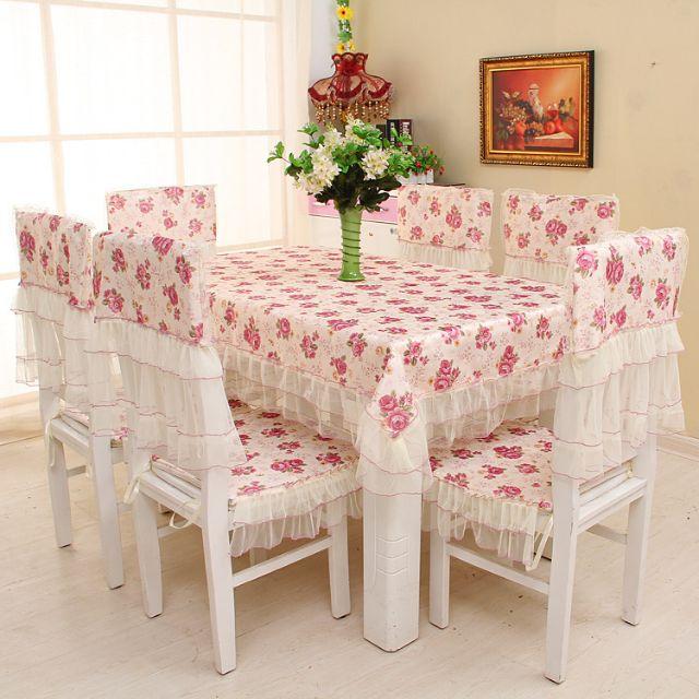 Khăn trải bàn phối ren hàng thiết kế ( không bán áo ghế )