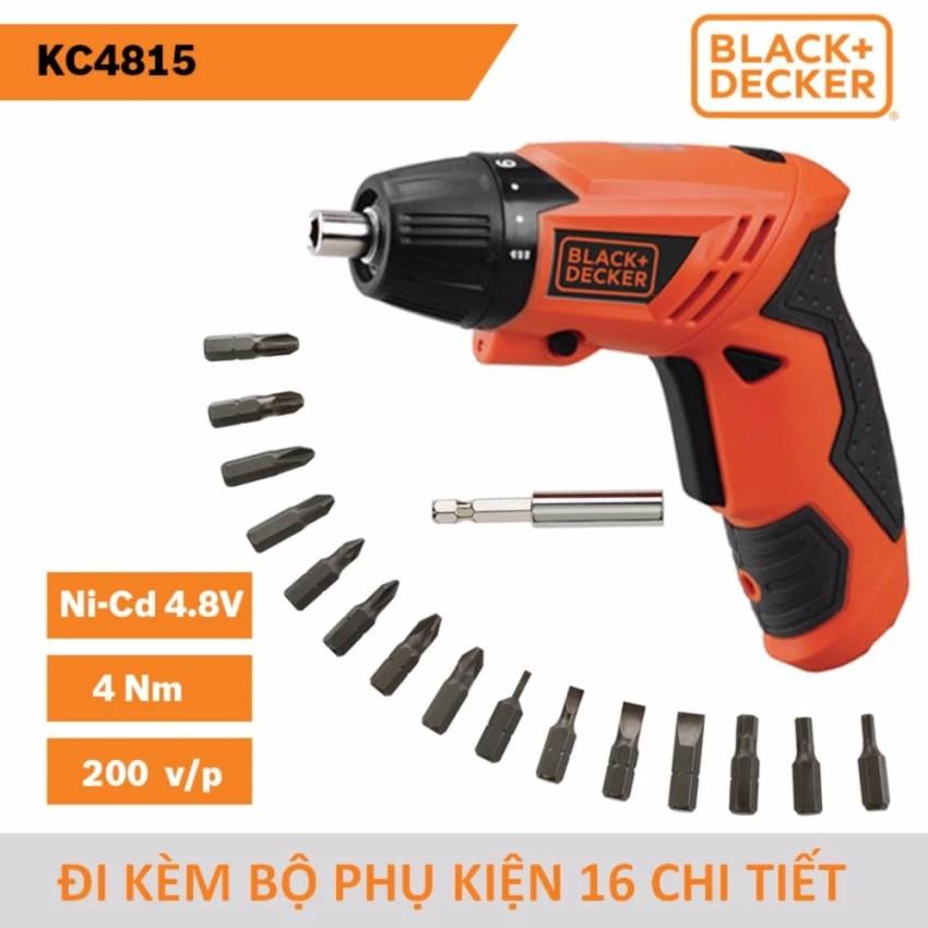 Máy vặn vít dùng pin Black & Decker KC4815 Ni-Cd 4.8V/0.6Ah 4Nm đi kèm bộ phụ kiện 16 chi tiết - 3268700 , 732247971 , 322_732247971 , 462000 , May-van-vit-dung-pin-Black-Decker-KC4815-Ni-Cd-4.8V-0.6Ah-4Nm-di-kem-bo-phu-kien-16-chi-tiet-322_732247971 , shopee.vn , Máy vặn vít dùng pin Black & Decker KC4815 Ni-Cd 4.8V/0.6Ah 4Nm đi kèm bộ phụ kiện