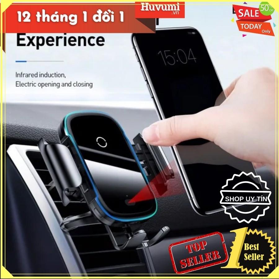Bộ đế giữ điện thoại dùng trên xe hơi Baseus, tích hợp sạc nhanh 15W, cảm biến tự động nhận diện thiết bị - New 100%