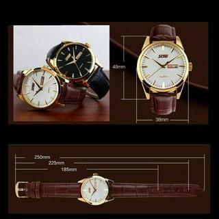 Đồng hồ nam SKMEI 9073 dây da cao cấp sang trọng lịch lãm