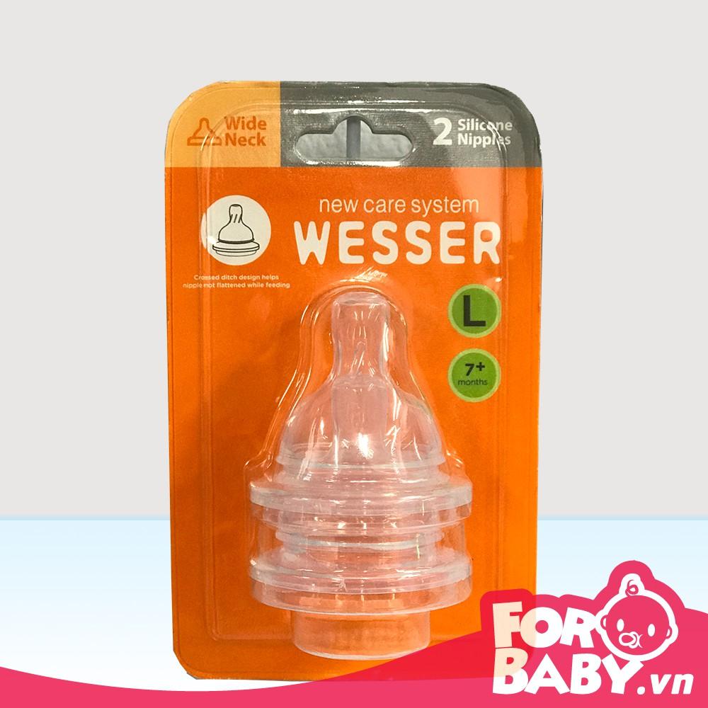 Núm ty Wesser Cổ rộng Đủ Size (Bộ 2 cái)