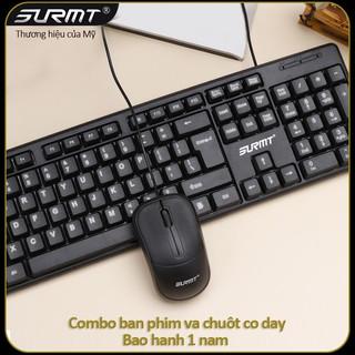 Bộ chuột và bàn phím có dây Surmt giá rẻ, thương hiệu của Mỹ,phím bấm cực êm, tiện lợi, bảo hành 12 tháng 8236