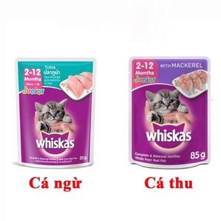 pate mèo con whiskas 85g 10 vị phong phú thumbnail