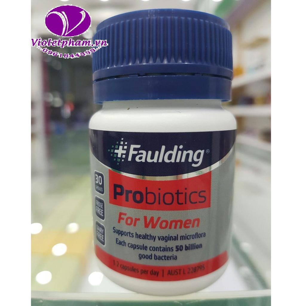 Faulding Probiotic For Women 30 Capsules - Men vi sinh cho phụ nữ - 2858660 , 195086440 , 322_195086440 , 449000 , Faulding-Probiotic-For-Women-30-Capsules-Men-vi-sinh-cho-phu-nu-322_195086440 , shopee.vn , Faulding Probiotic For Women 30 Capsules - Men vi sinh cho phụ nữ