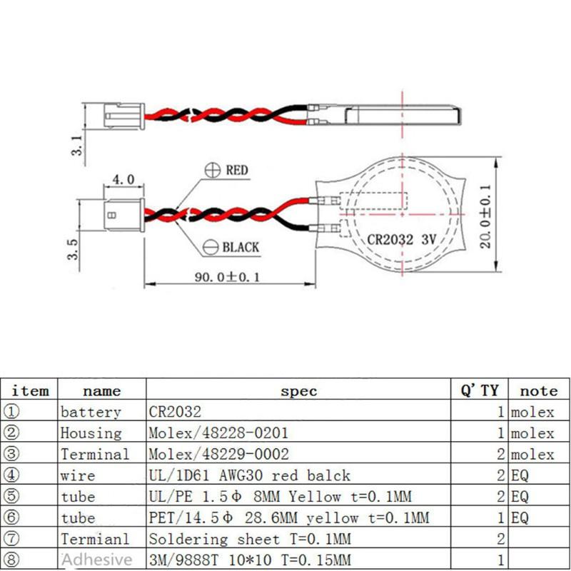 Bộ 10 Pin Sạc Cr2032 2p 3v 230mah Cho Notebook Bios - Laptop