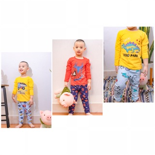 Bộ dài tay cotton thu đông xuất Hàn cho bé trai từ 7-22kg- Quần áo trẻ em