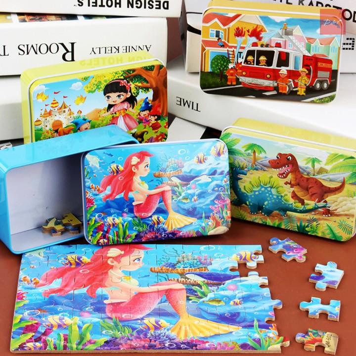 Đồ chơi Tranh ghép gỗ Puzzle 60-100-200 chi tiết, 4 cấp độ - Đồ chơi phát triển trí tuệ, dành cho bé từ 3 tuổi