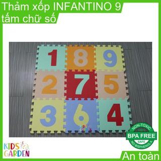 Thảm xốp ghép trải sàn INFANTINO 9 tấm chữ số HK003