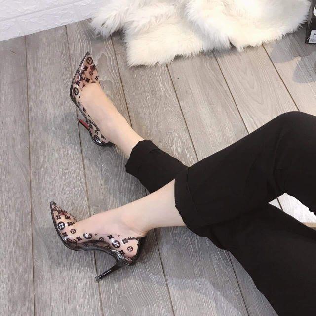Giày Cao Gót 9P in Hình - VNXK Cao Cấp - Sang Chảnh Quý Phái - Full Size 34-40