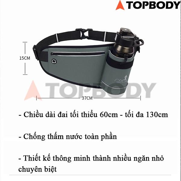 Túi đeo chạy bộ chống nước, túi chạy bộ đeo hông, đai chạy bộ đựng điện thoại TOPBODY