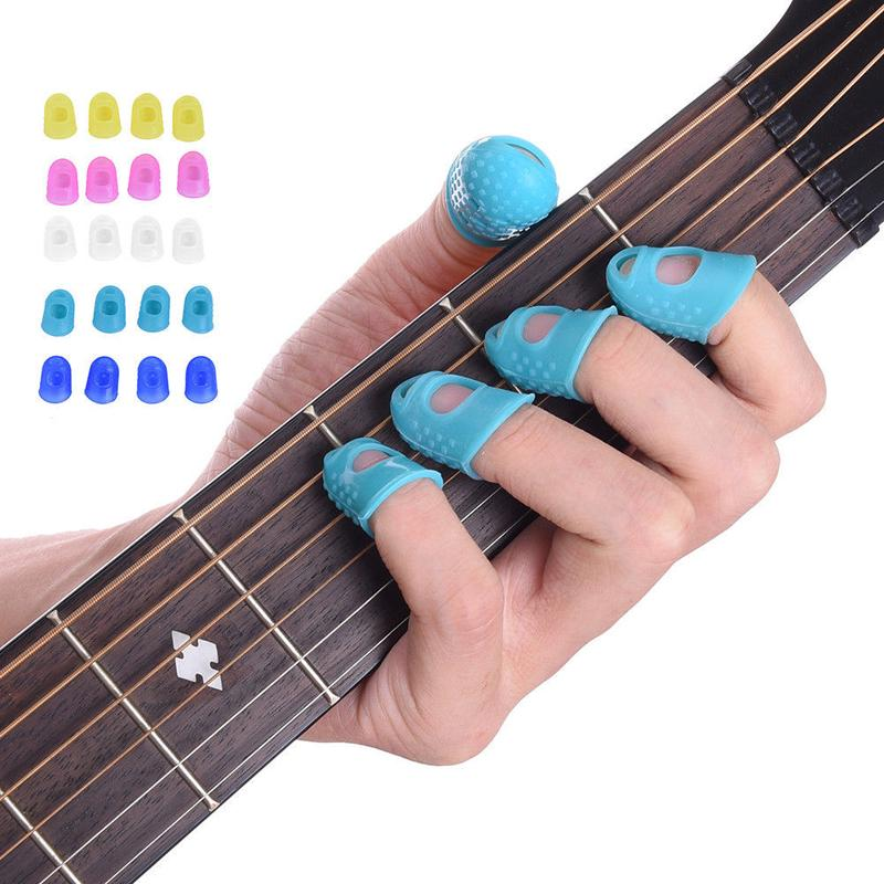 12pcs Guitar Thumb Picks Protectors Finger Plectrum Band Liparite Set