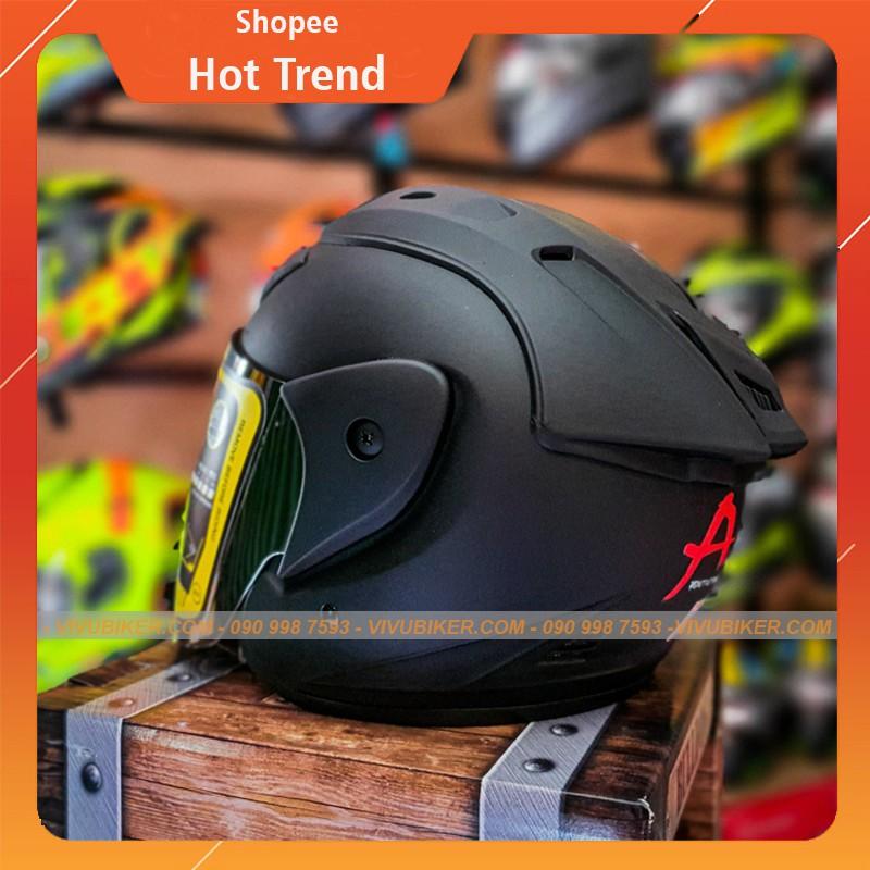Mũ nón bảo hiểm 3/4 Asia m 115 kèm kính tráng gương bạc - Mũ bảo hiểm kèm kính gương cao cấp bảo hành 12th