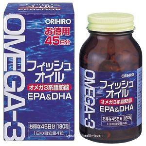 Dầu cá Omega 3 Orihiro 180 viên - Nhật Bản nội địa