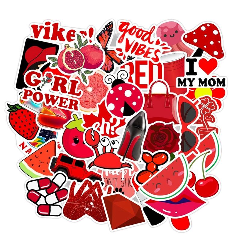 Classic Toys Red Girl Stickers Animal Luggage Graffiti Waterproof Stickers Pack Laptop Skateboard Sticker 50pcs/Lot