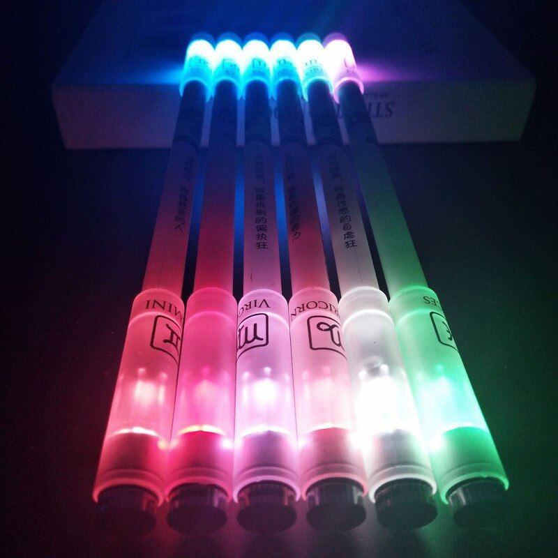 Bút Quay Nghệ Thuật Phát Sáng, Có Đèn Led 2 Đầu, Cá Tính Với 12 Chòm Sao, bút quay phát sáng, bút quay mod CuuLongStore