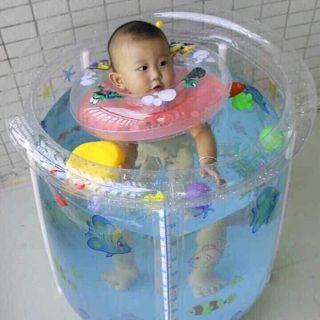 Bể bơi thành cao cho bé yêu