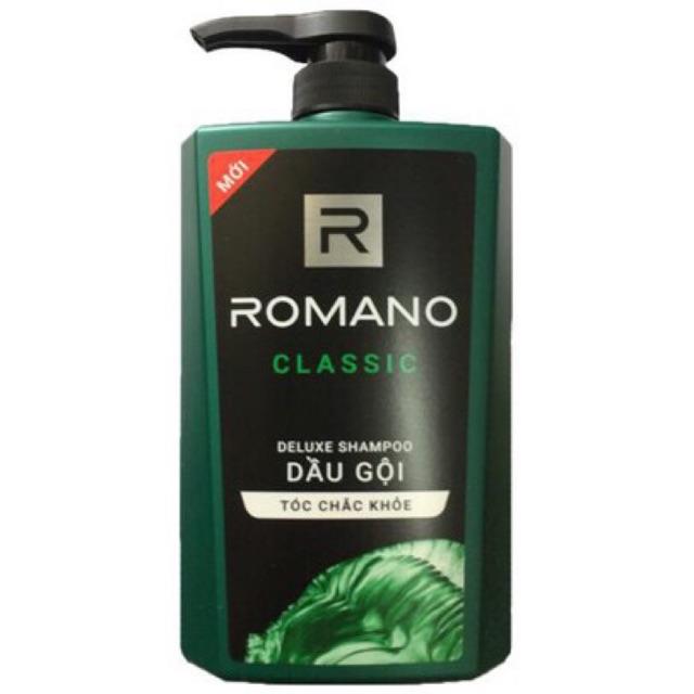 Dầu Gội Romano Classic 650ml (Xanh)