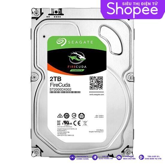 {Sale Siêu rẻ} Ổ Cứng HDD Seagate FireCuda dung lượng 2TB/8GB/3.5 – ST2000DX002 lựa chọn hoàn hảo cho các gamer Giá chỉ 3.368.750₫
