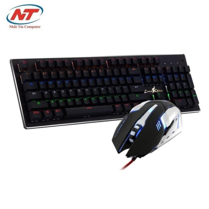 Bộ bàn phím cơ và chuột game cao cấp Cool Killer K100 (Đen)