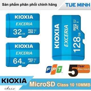 [Mã ELFLASH5 giảm 20K đơn 50K] Thẻ nhớ MicroSD Kioxia tốc độ Class 10 U1 100MB - hàng chính hãng FPT phân phối