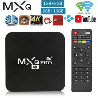 Android TV box MXQ PRO 4K Android:10.1 1+8G/2+16G Bạn có thể xem youtube và vân vân