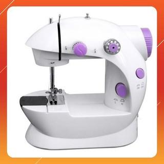 Máy may mini gia đình Machine 202 CMD (trắng phối tím) thumbnail