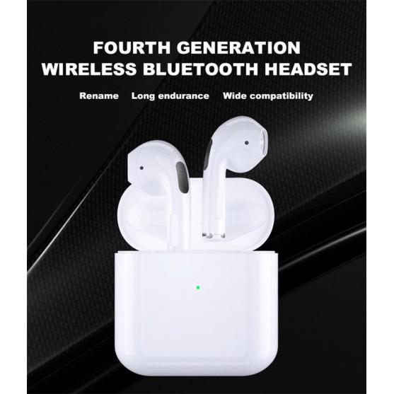 [Mã ELFLASH3 hoàn 10K xu đơn 20K] Tai Airpods Pro 4 Bluetooth TWS 5.0 Định vị, đổi tên chuẩn 2021