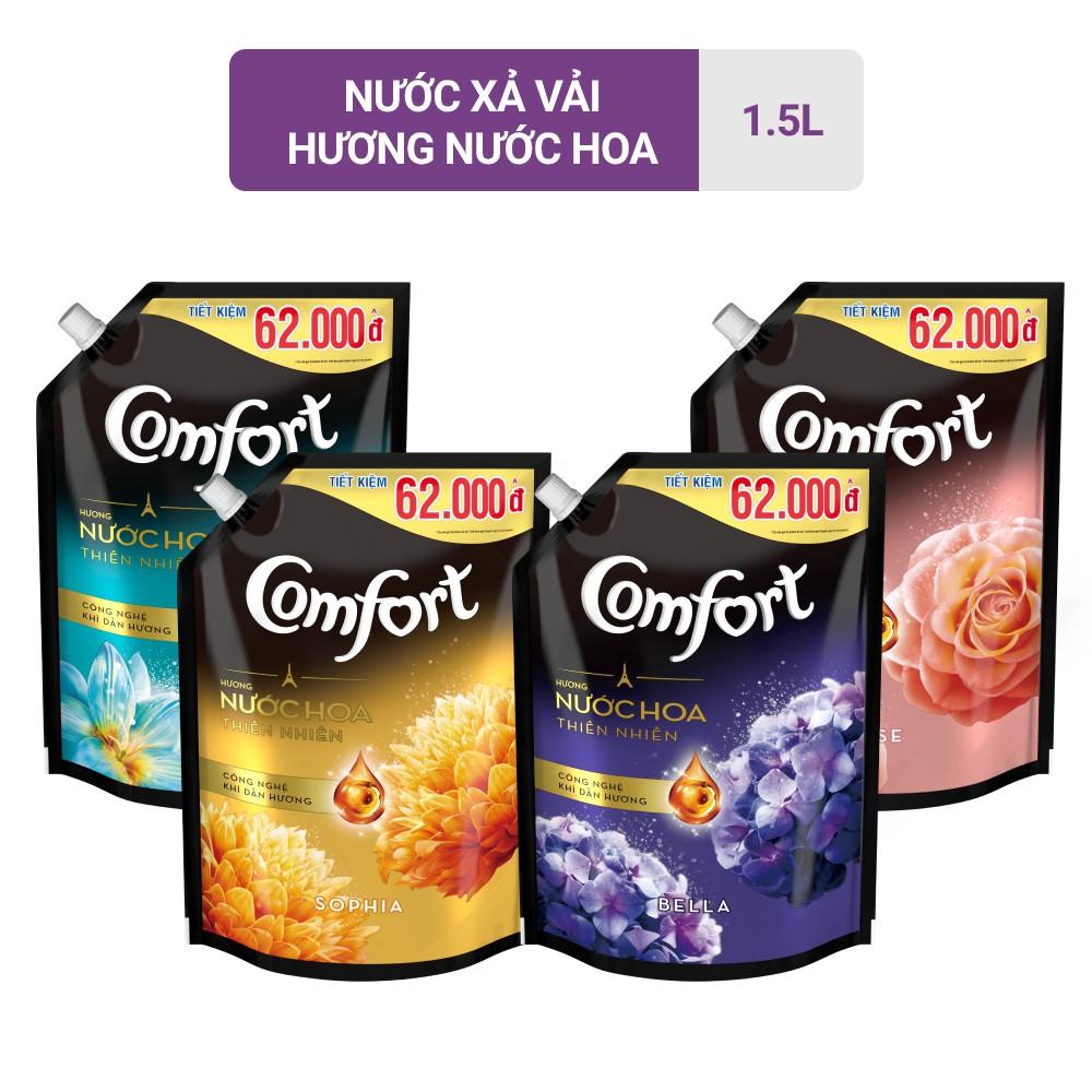 Nước xả vải Comfort Hương Nước hoa thiên nhiên túi 1,5L