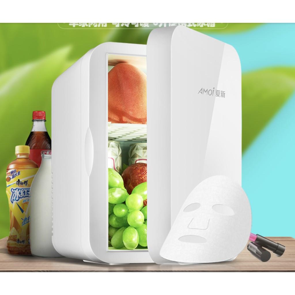 [Mã 1510ELSALE hoàn 7% đơn 300K] Tủ lạnh mini Amoi 8 lít dùng ở nhà hoặc trên ô tô(đủ dây cắm điện 220V + ô tô)