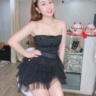 Váy Voan Lưới Tầng