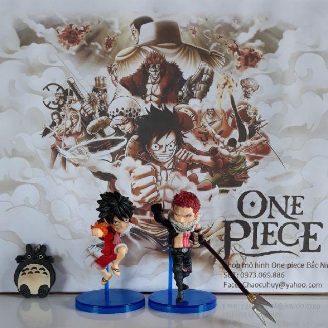 Mô hình Wcf [Full Box] Luffy RedHawk & Charlotte Katakuri OnePiece