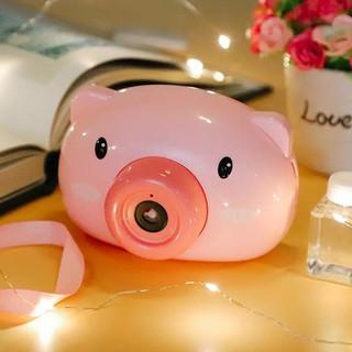 Máy ảnh thổi bong bóng con lợn- đồ chơi thổi bóng hình con lợn