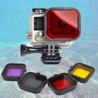 4pcs Diving Filter Multifunction Practical Underwater Accessories Durable Photography Easy Install For Hero 4