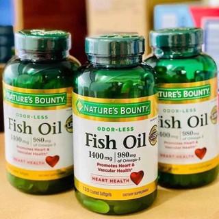 Dầu cá Nature's Bounty Fish Oil 1400mg của Mỹ.