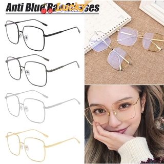 LUCKY🔆 Improve Comfort Optical Spectacle Frames Radiation Protection Resin Lens Anti Blue Ray Glasses Ultralight Fashion Metal Frame Square Computer Gaming Eyewear/Multicolor