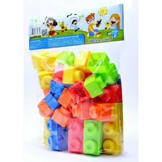 Bộ xếp hình, ghép hình sắc màu tuổi thơ 36 chi tiết đồ chơi nhựa an toàn SATO