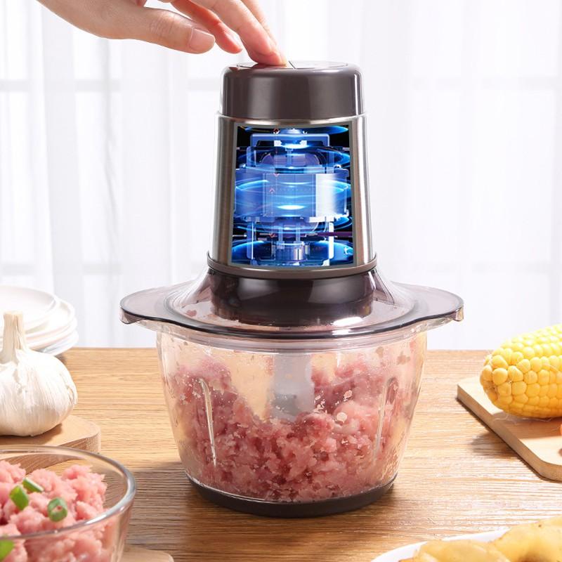 Máy xay thịt đa năng LOTOR ZN-02 lưỡi trộn kép - công suất 300W - xay thịt nhanh, nhỏ, mịn - không gây ồn