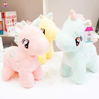 Gấu Bông Unicorn - Kì Lân Pony Một Sừng size 30cm, Thú Nhồi Bông Đáng Yêu Vải Co Dãn 4 Chiều, Gối Ôm Cho Bé Ngựa Pony thumbnail