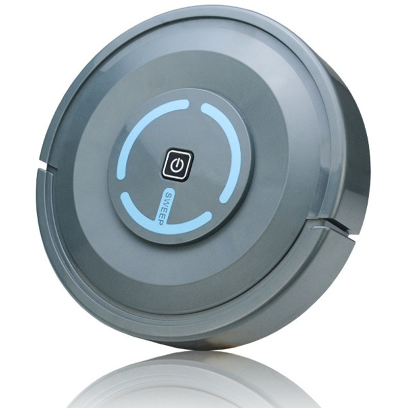 Automatic Cleaning Machine Robot Vacuum Cleaner Lithium Battery Gray