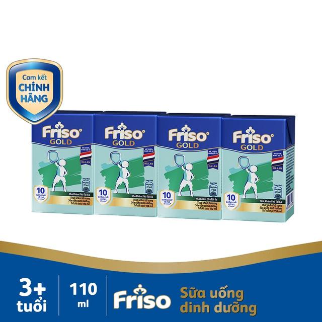 [MKB Gift] Lốc 4 hộp Sữa uống dinh dưỡng Friso Gold 110ml
