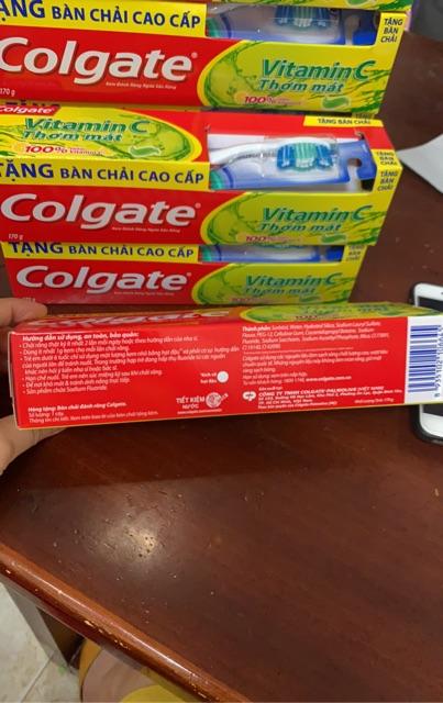 [Tặng Bàn Chải] Kem Đánh Răng Colgate Vitamin C 170g
